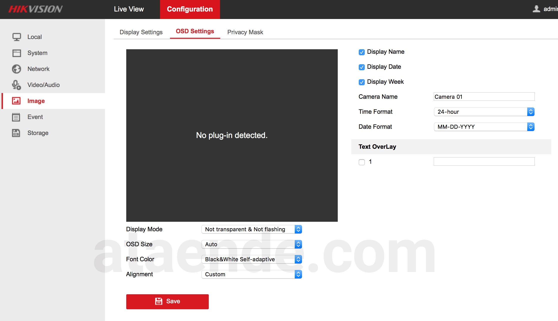 konfigurasi tampilan ip camera cctv hikvision