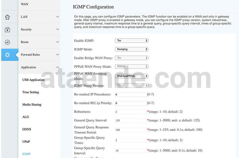 IGMP Configuration