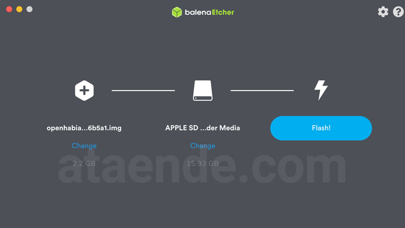 Balena Etcher flashing Openhabian